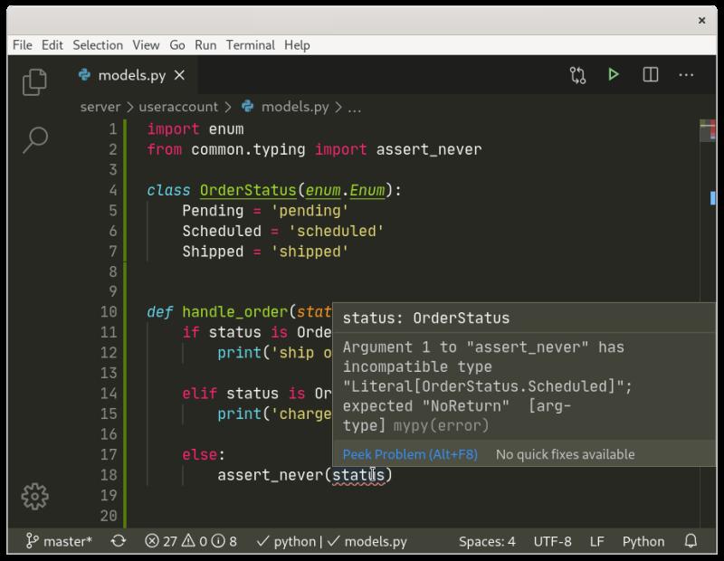 mypy Error in VSCode