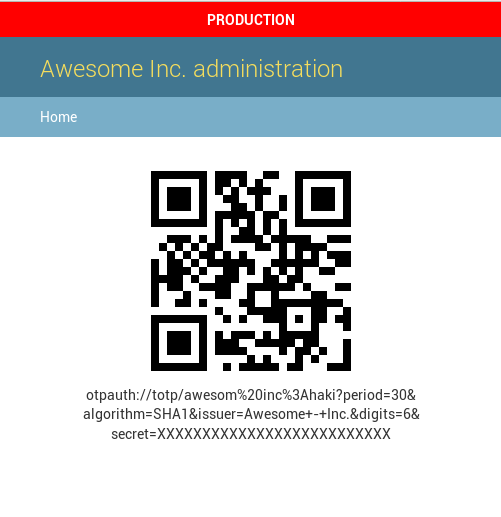 QR for setting up a new user