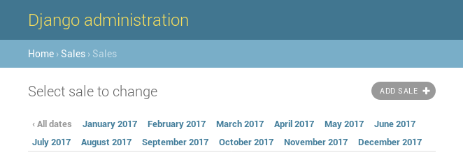All month of year 2017 are shown